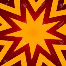 Flat Design Star Illustration For Poster Abstract Orange Color Background Header Or Banner