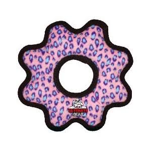 Tuffy Ultimate Dog Toy - Pink Leopard, Gear Ring