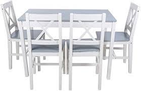 de essgruppe mit 1 tisch 4 stühle holz tischgruppe