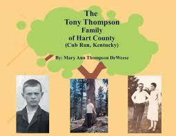 100 Mary Ann Thompson The Family Of Hart County Kentucky Book 509360 Bookemon