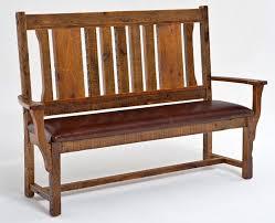 Barnwood Bench Panel Back Mission Style