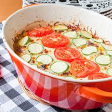 cuisine de courgettes recette gratin de courgettes et tomates