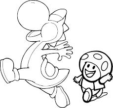 Coloriage De Yoshi Et Toad à Imprimer Sur Coloriage DE Com
