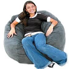 cozy sack 3 bean bag chair medium grey kitchen