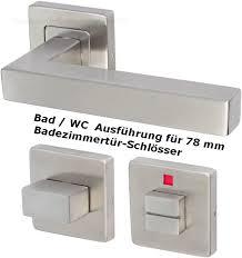 edelstahl türbeschlag quadros r wc drückergarnitur türbeschläge türdrücker neu