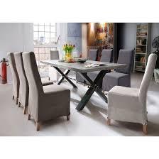 Gavi Benton Optik Stone Dining Table And 6 Casper Chairs