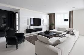 Brown Carpet Living Room Ideas by Apartement Elegant Modern Apartment Inside Black Curtains Living