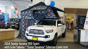 2016 Toyota Tacoma TRD Sport With Tepui Gran Sabana Tent - YouTube Take Camping To The Next Level With At Overlands Tacoma Habitat 19952003 1st Gen Toyota Tacoma Midlevel Rugged Bed Rack Rago Dac Tailgate Tent World Sportz Truck Tent Napier Outdoors Pickup Topper Becomes Livable Ptop Habitat Ranger Overland Rooftop Annex Room Best Off Road Camping Roof Top Tents Page 2 Pinterest Top Guide Gear Compact 175422 At Sportsmans