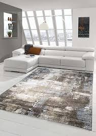 designer teppich moderner teppich wohnzimmer teppich barock design steinmauer optik in braun beige grau creme meliert größe 160x230 cm