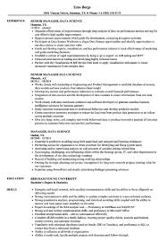 Data Scientist Resume Sample Manager Science Samples Velvet Jobs