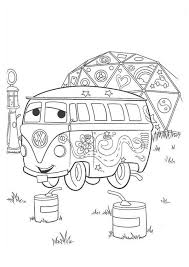 Cars Fillmore From Disney Coloring Page PageFull Size Image