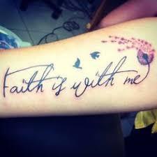 Faith Is With Me Dandelion Birds Tattoo Def Like The Flower I