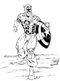 Captain America Printable Coloring Pages Plus