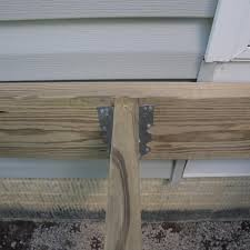 Floor Joist Bracing Spacing by How To Build A Deck Post Holes And Framing
