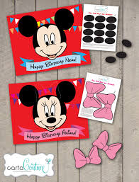 Mickey And Minnie Bathroom Accessories by Diy Personalized Pin The Nose On Mickey Or Pin The Bow On