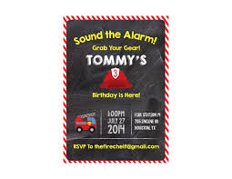 Fireman Birthday Party Invitation - Crowning Details