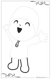 Pocoyó Descargar Dibujos Para Colorear Para Niños Gratis