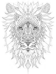 Most Popular Tags For This Image Include Lion Stress Relief Adult Coloring Page And