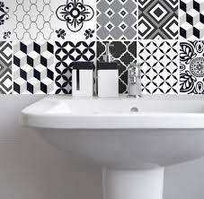 fliesenaufkleber für küche und bad marokkanisch patchwork schwarz weiß