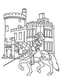 Lego Knights In Front Of Castle Coloring Pages