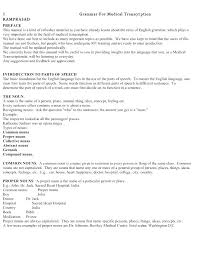 Medical Transcription Resume Sample Format