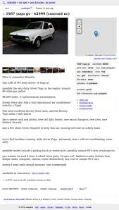 100 Craigslist Charlotte Nc Cars And Trucks By Owner For 2999 Is This 1987 Yugo GV Better Than No Va