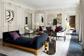 Apartment Modern Parisian Apartment Living Room Design With