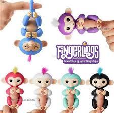 Cute Fingerlings Baby Monkey Electronic Funny Finger Toy WowWee