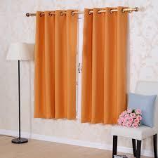 solide couleur thermique isolé blackout rideaux 8 œillets solide