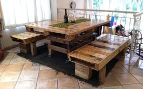 Tables Made Out Of Pallets Inspiring Dining Room Table With Additional Round