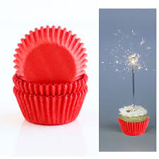 200 Red Paper Cupcake Liners Baking Cups Standard Size Cake Candy Decorations