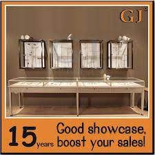 Guangzhou GJ Showcase Factory Production Fashion Jewelry Shop Display Cabinet Furniture Round Counter