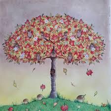 Secretgarden Coloring Coloringbook Adultcoloring Prismacolor Antistress Tree Fall PrismacolorJohanna BasfordColorBooksTips