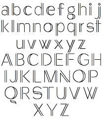 Pix For Simple Typography Alphabet