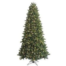 9 Ft Indoor Pre Lit LED Energy Smart Spruce Artificial Christmas Tree With Color