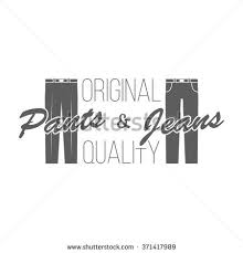 Pants And Jeans Logos Isolated Badge Of Store On Transparent Background Use For
