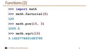 Mathceil Python 3 by Python Programming Essentials M24 Math Module