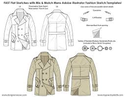 Mens Flat Fashion Sketch Templates