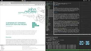 Best Tiling Window Manager 2015 by A Minimalist Openbox Desktop For Vim Freaks