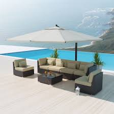 Outdoor Sectional Sofa Set by 7pc Outdoor Wicker Sectional Sofa Rattan Patio Furniture White
