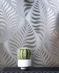 newroom blumentapete tapete grau silber blätter zweige floral papiertapete grau papier moderne design optik tapete blumentapete glänzend modern inkl