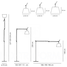 Tolomeo Desk Lamp Parchment Shade by Artemide Tolomeo Mega Led Terra Floor Lamp Aluminium Shade In