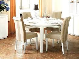 White Round Dining Room Table And Chairs Expandable Set The Most Modern Papers