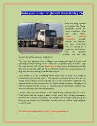 100 Who Makes The Best Truck Make Your Carrier Bright With Truck Driving Job By Martha Adams Issuu