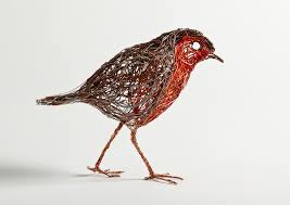 Bird Sculptures Constructed From Wire By Celia Smith Look Like