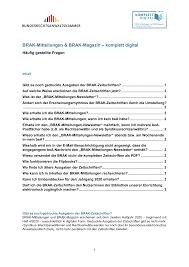 Brak Mitteilungen Brak Mitteilungen Brak Magazin Komplett Digital