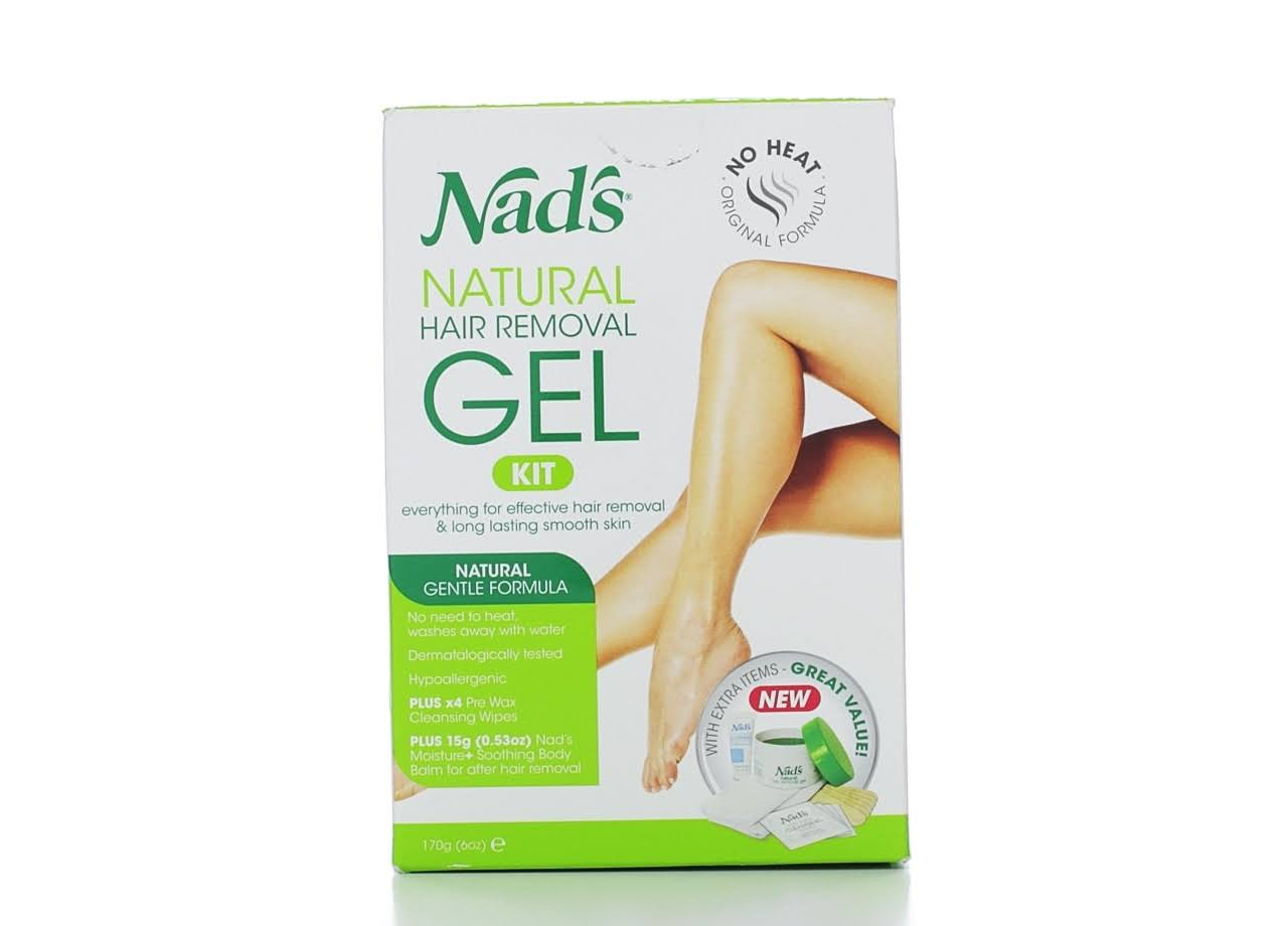Nad's Natural Hair Removal Gel Wax Kit - 6oz