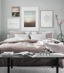 design inspiration and poster picture wall in the bedroom