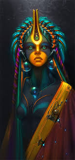 AI Priestess Amazing Digital Art By Wen Jr
