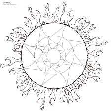 Awesome Sun Coloring Page 33 With Additional Pages For Adults